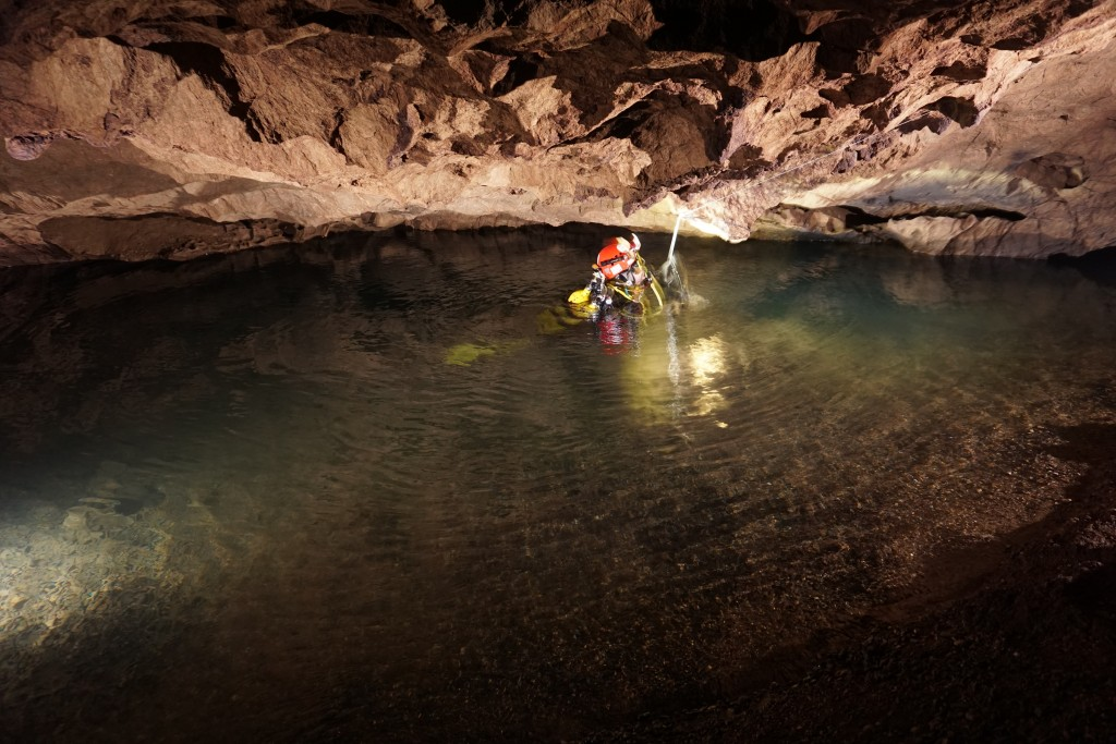 Siphon de Tham [grotte] Jam. Crédit Stéphane Maifret.